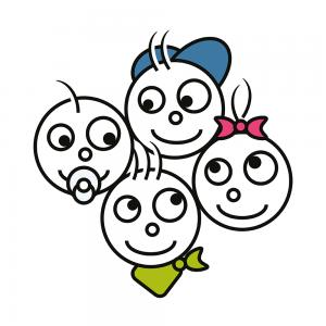 Logo til 'Børn med mælkeallergi'